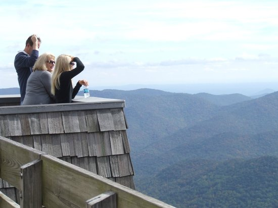 Brasstown Bald: The observatory at the park