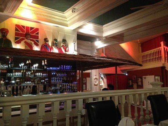 The Raj Restaurant: inside