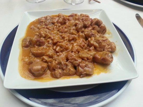 Las Cancelas Restaurant: Mollejas de ternera lechal con pimenton de la Vera al jerez