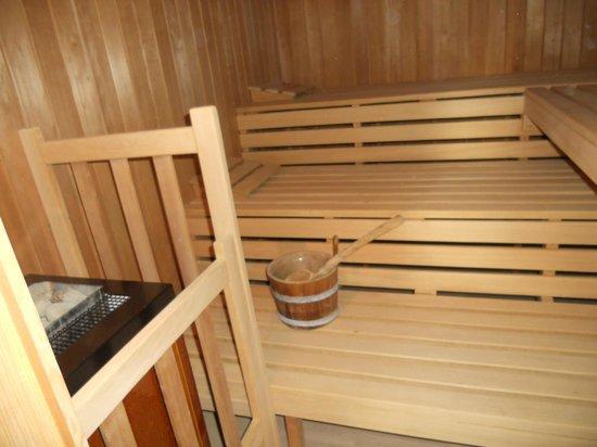 La Cressonnière : le sauna