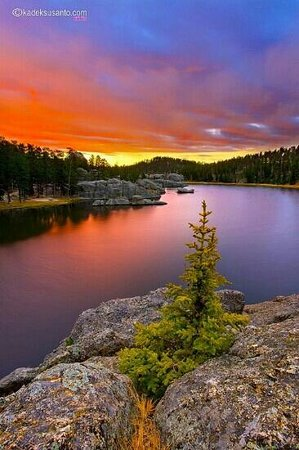 Custer, Dakota del Sur: sylvan lake early morning.. www.kadeksusanto.com