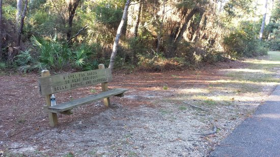 Hugh S. Branyon Backcountry Trail: Benches every 1/4 to 1/2 a mile.