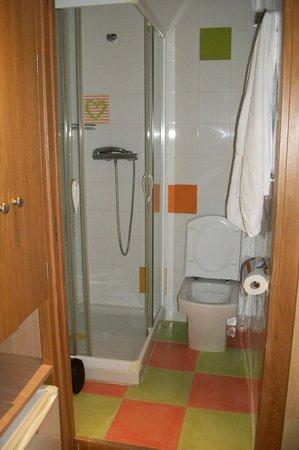 Pension Izar Bat: Vista del baño desde la habitación