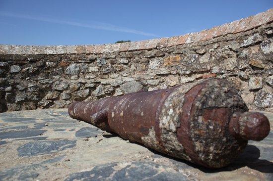 Castillo De Cortegana: Cañon en uno de los torreones