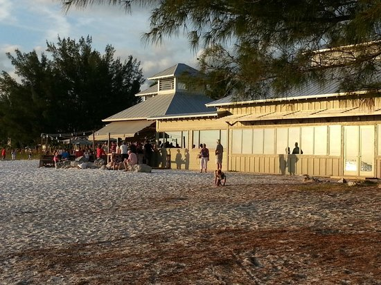 Sandbar Restaurant: View from the beach