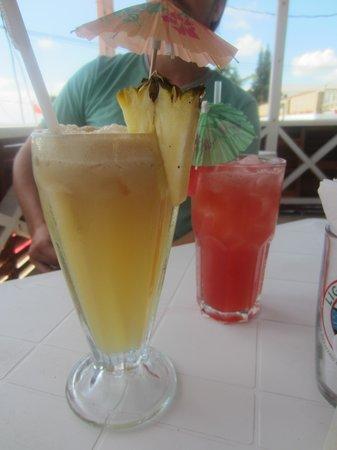 Doc'ks Tiki Bar & Grill: Pina colada w/ rum and watermelon juice
