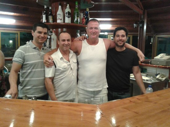 Camari Garden Apartments : Me with Nico George and Manos  having another great night in the bar.