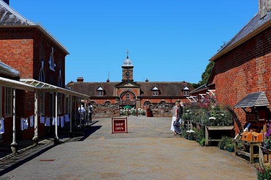 Kingston Lacy: courtyard