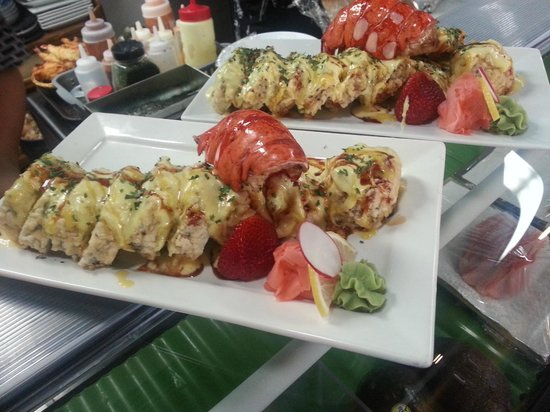 Ta-Ke Sushi : lobster roll local lobster tail in sushi roll)