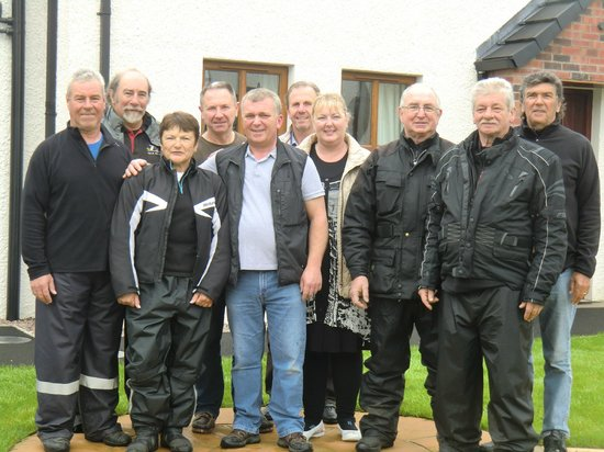 French bikers in Ulster Cottages