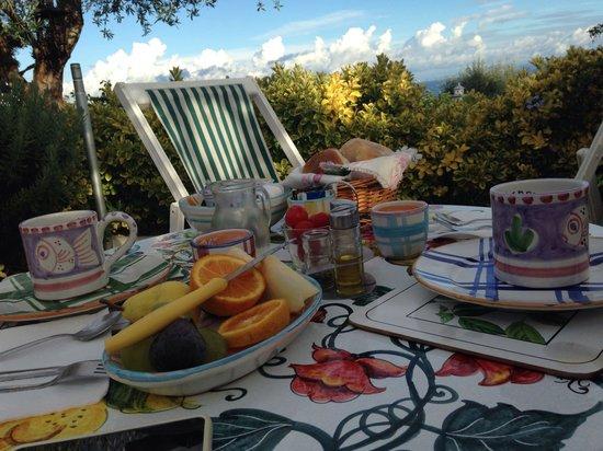 Il Giardino dell'Arte: La nostra colazione