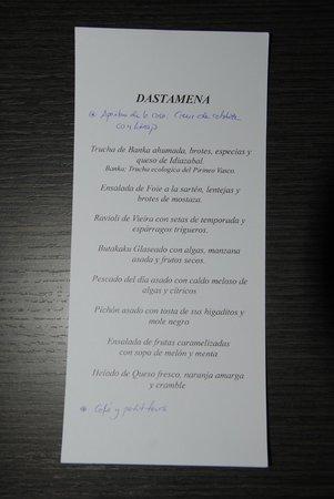 Alameda: El menú degustación