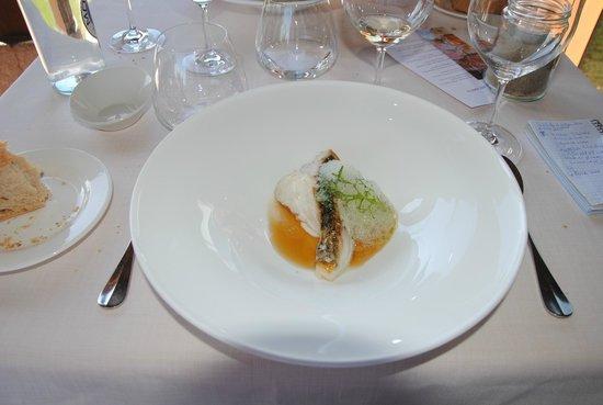 Alameda Restaurant: Mero asado con caldo meloso de algas y cítricos