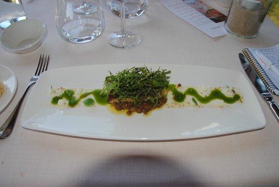 Alameda Restaurant: Ensalada de Foie a la sartén, lentejas y brotes de mostaza