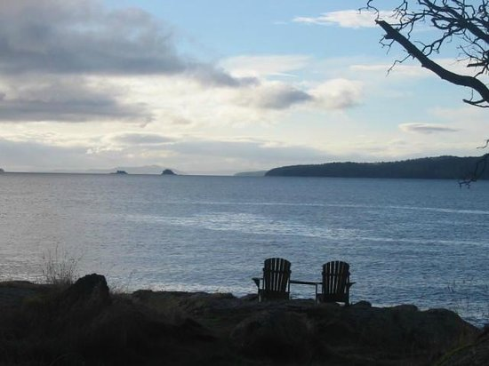 Spindrift Oceanfront Cottages : Adirondack Chairs to view the Sunrise, Welbury Point