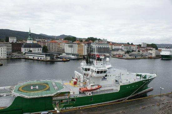 Rosenkrantz Tower - Bymuseet i Bergen : Вид с крыши башни Розенкранца