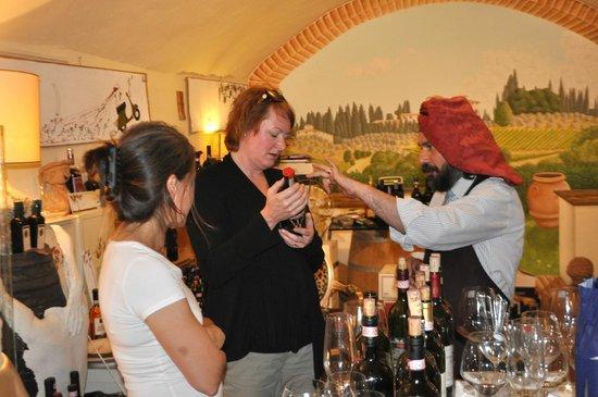 Accademia del Buon Gusto : Tasting yet more wine.