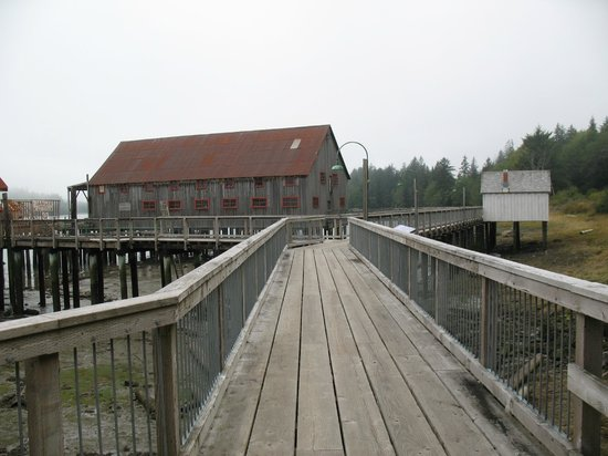 North Pacific Cannery Museum: The pier to the worksheds and bunkhouses