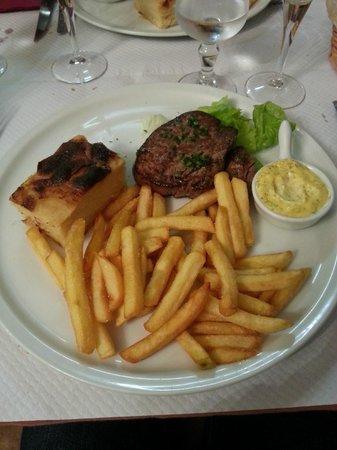 Week-end : Bavette sauce aux échalotes - Gratin maison et frites