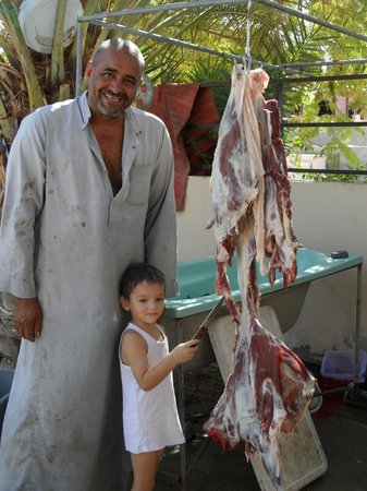 Darna Village Beach Hotel & Dive Center: Our host, his son, the sacrificial Eid goat