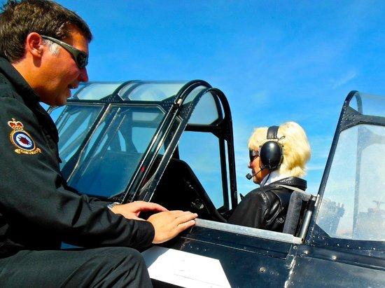 Goodwood Warbird Flight Experience: Instructions on use of the radio intercom