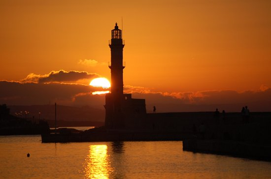 Porto Veneziano Hotel : Sunset on the Old Harbor inChania