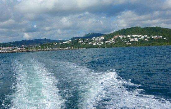 Sea Ventures Dive Center: leaving the marina