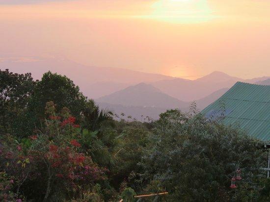 El Dorado Nature Reserve: Sunset from Lodge