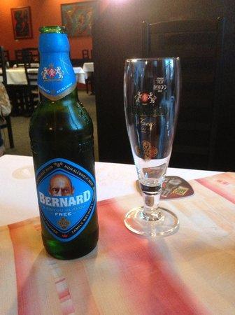 Restaurace Cerny kun: Bernard alcohol-free beer at Cerny kun
