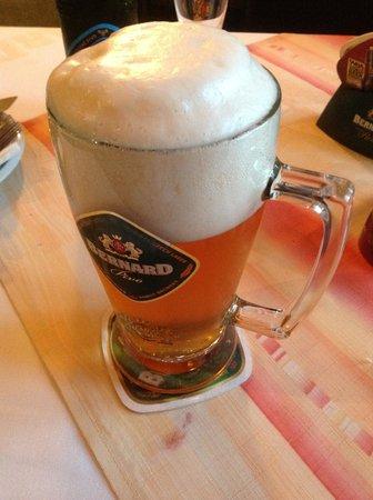 Restaurace Cerny kun: Bernard beer at Cerny kun
