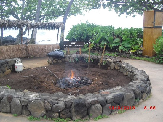 Royal Kona Resort : cooking of the pig