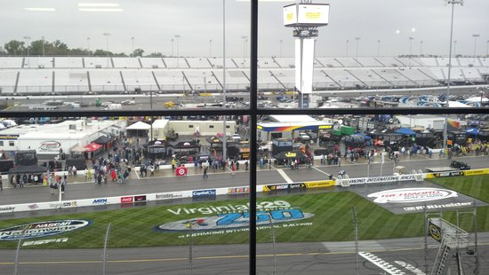 Richmond International Raceway: view from the box