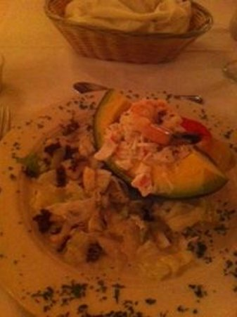 Chalet Suisse: Stuffed avocado- fabulous!