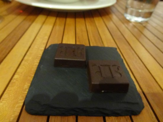 Boucan by Hotel Chocolat: HotelChocolat chocolates at dinner