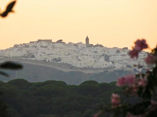 El Sueno: Vejer in the distance at sunset