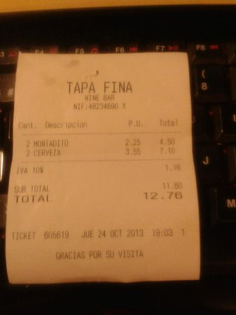 Plaza de Angel 5: ticket