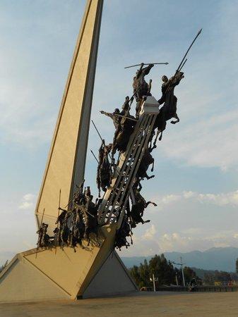 Pantano de Vargas  Monumento a los 14 lanceros: Monumento da Batalha