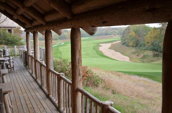 Blackwolf Run Restaurant: View from deck towards course