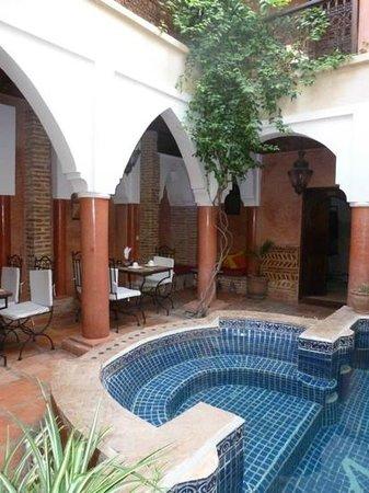 Riad Plein Sud : Courtyard pool