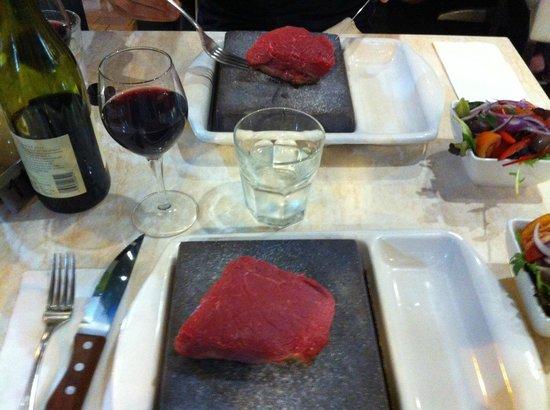 stonegrill steak: lovely!