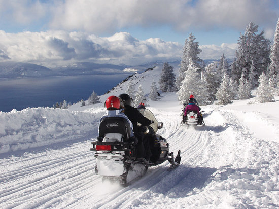 Stateline, NV: Snowmobiling at Tahoe South