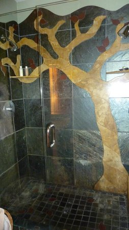"Pelton Guest House: Shower in the ""wood"" room - Pelton house"