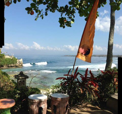 Secret Point Huts : View from the garden and room balcony