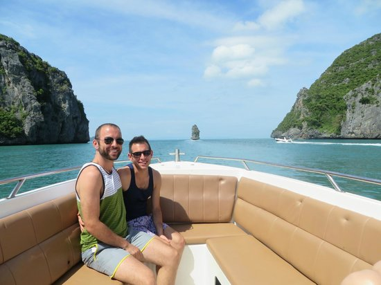 Koh Samui Speedboat Charters & Tours: Front of the boat during our tour of the Marine Park