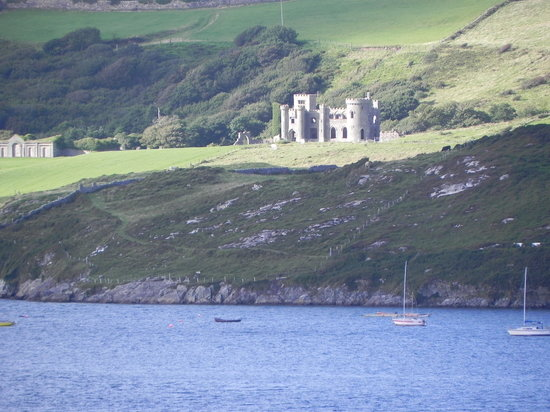 Clifden Castle : From across the bay to the south