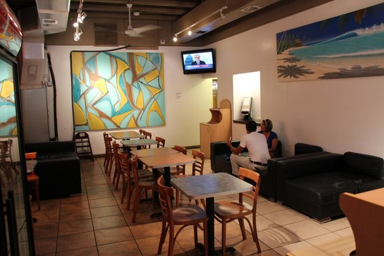 Gelato on Duval: our dining room