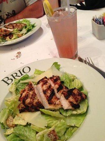 Brio Tuscan Grille: ceasar chicken salad and pink lemonade