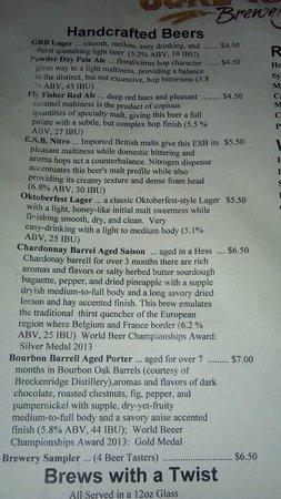 Gore Range Brewery : Brews on tap