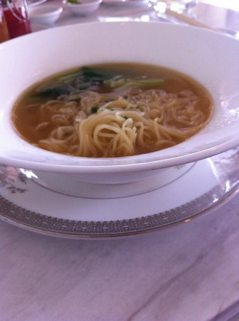 The Chateau Spa & Organic Wellness Resort: breakfast wanton noodles