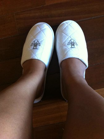 The Chateau Spa & Organic Wellness Resort: loving the soft bedroom slippers